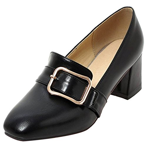 Orteil Taoffen Femmes Chunky Escarpins Black Carré Bowknot 1 rEZqxd4Z
