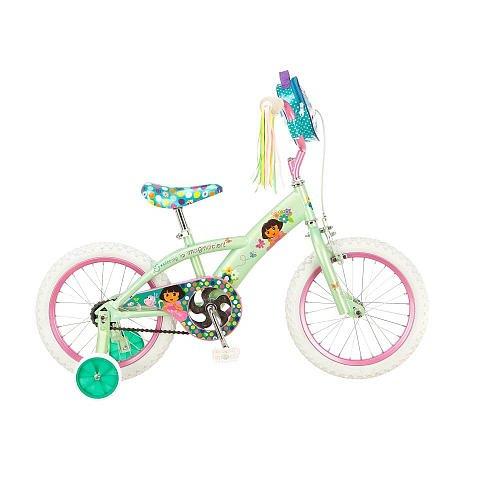 16 inch Dora the Explorer Bike Girls Mint/Pink
