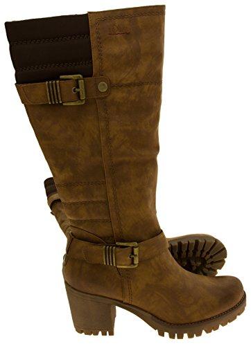 S.oliver femmes Faux cuir genou de Bottes Hautes Brown Kf8yG