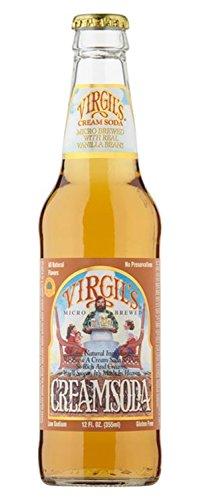 Virgil's Cream Soda, 12 oz Glass Bottles (12 Pack) (Virgil Cream Soda)