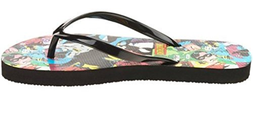 Batman Womens Flip Flop Sandals Black XyAbK