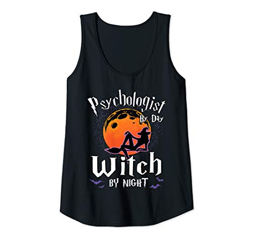 Womens Psychologist By Day Witch By Night Halloween Psychology Gift Tank Top ()