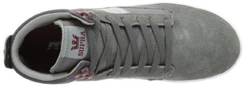 Supra BANDIT - Altas de cuero hombre gris - Grau (CHARCOAL / BURGUNDY - WHITE CHB)
