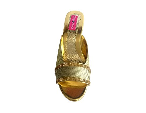 Beaded Shoes Style Gold Bridal Step Ethnic Footwear Ladies Khussa Saree n Sandals Juttis xpggn0ZO