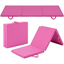 Best Choice Products 6x2ft Exercise Tri-Fold Gym Mat for Gymnastics, Aerobics, Yoga, Martial Arts