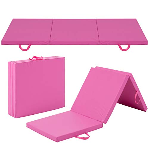6' Exercise Tri-Fold Gym Mat For Gymnastics, Aerobics, Yoga