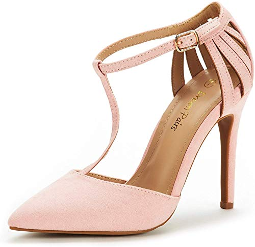 DREAM PAIRS Women's Oppointed-Mary Pump Shoe