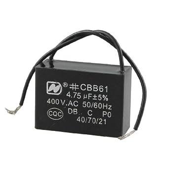 DealMux Ventilador de techo Condensador CBB61 4,75 UF MFD 400VAC 2 ...