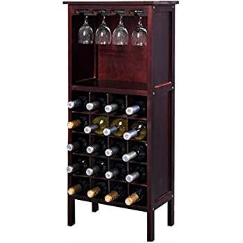 Amazon Com Liquor Storage Cabinet With Glassware Rack