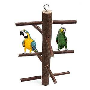 Nishci Juguete de Loros Colgantes - Pájaros Perchas Jaula Stand ...