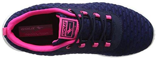 Gola Izzu, Zapatillas Deportivas para Interior para Mujer Azul (Navy/hot Pink)