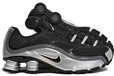 NIKE Shox Turbo+ 9 Black Black-Metallic Silver-Dark Grey Mens Shoes  366410-007 dbfbf48df