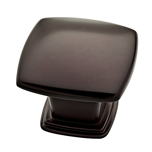 Franklin Brass P35596K-OB3-B 30.5mm Soft Square Kitchen Cabinet Drawer Knob (10 Pack), 10 Pack, Oil Rubbed Bronze