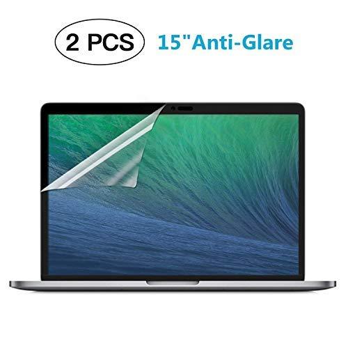(2-Pack) Anti Scratch Matte MacBook Screen Protector Guard for Apple MacBook New Pro 15