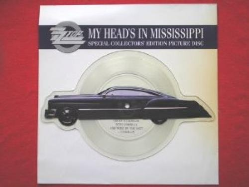 ZZ Top My Head's In Mississippi 7PD Warner Bros W0009P EX 1991 car-shaped picture disc in pvc sleeve with (Pvc Disc)