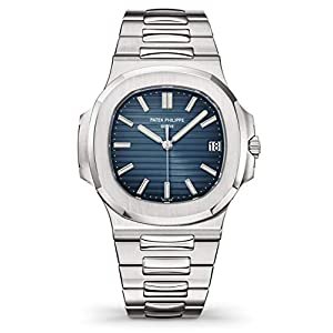 Best Epic Trends 41jSChHnvLL._SS300_ Patek Philippe 5711/1A-010 Automatic Black-Blue Dial Luxury Men's Watch