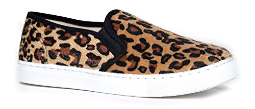 J. Adams Round Toe Slip On Sneaker - Adorable Cushioned Glitter Shoe - Easy Everyday Fashion - Glimmer