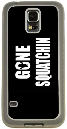 Rikki Knight Gone Squatchin on Black Design Case (Clear TPU) for Samsung Galaxy S5