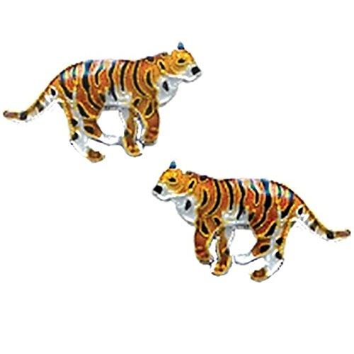 Tiger Cloisonne Post Earrings