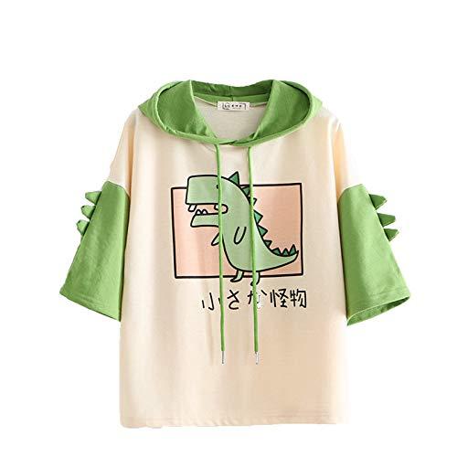 Cartoon Monster Hoodie voor dames meisjes schattige dinosaurus sweatshirts met korte mouwen Japanse Kawaii Multicolor…