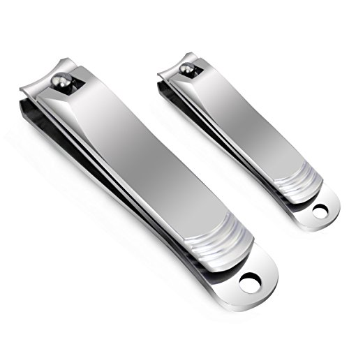 Nail Clippers Set - Chicone Stainless Steel Fingernail and Toenail Nail Cutter and Trimmer for Men Women with Gift Box by Chicone