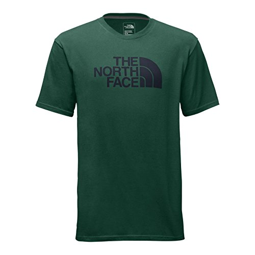 The North Face Men's Short Sleeve Half Dome Tee - Smoke Pine and Urban Navy - S