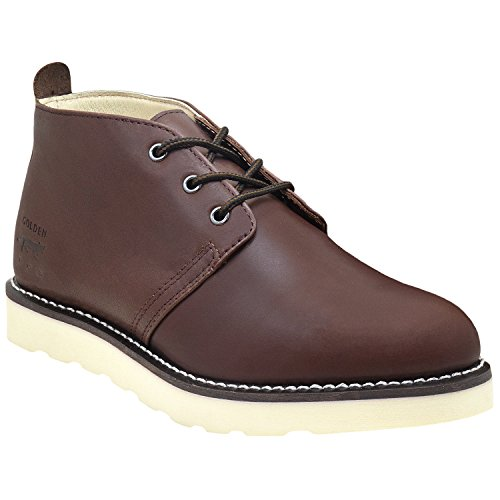 Mens American Light - Golden Fox Men's American Heritage Work Chukka Boot with Lightweight Oil Resistant Wedge Sole for Construction 10.5 Moondance
