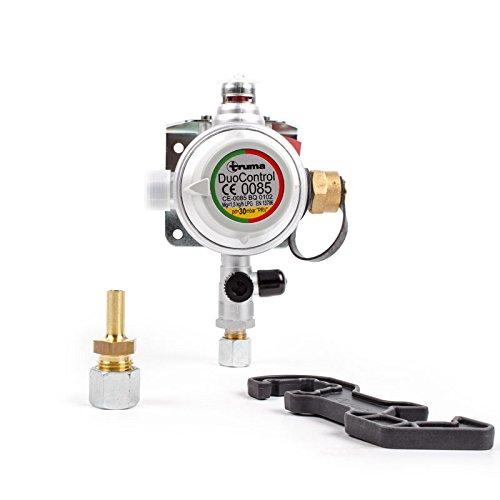 Truma DuoControl Gasdruckregler 30 mbar f/ür Wohnwagen oder Wohnmobil