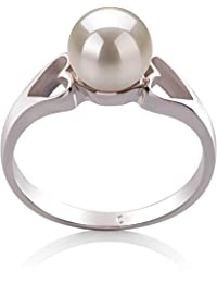 PearlsOnly - Jessica White 6-7mm Freshwater 925 Sterling Silver Cultured Pearl Ring