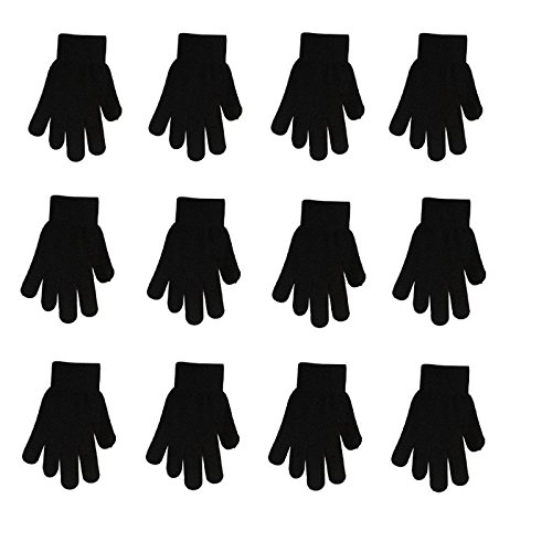MJ Boutique Wholesale Lot of 10 Dozen of Womens Black Gloves Retail Ready MJ4528/7 by MJ Boutique