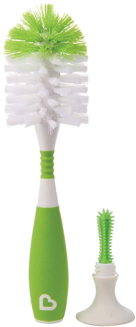 Redify Deluxe Bottle and Teat Brush with Textured, Easy-Grip Handle - Assorted Colours