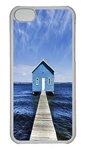 Australia blue clouds horizon house Polycarbonate Hard Case Cover for iPhone 5/5S Transparent