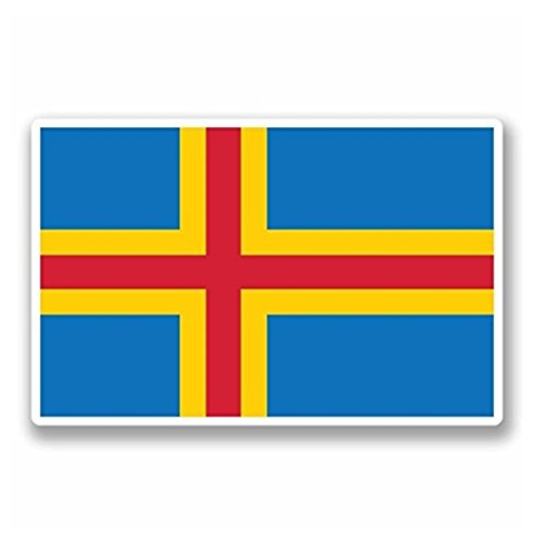Åland Aland Finland Flag Vinyl SELF ADHESIVE STICKER Decal - Sticker Graphic - Auto, Wall, Laptop, Cell, Truck Sticker for Windows, Cars, Trucks