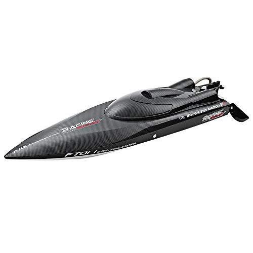 Generic New Fei LUN FT011 2.4G Racing RC Boat High Speed Brushless Motor Water Cooling System 4Channels Speedboat Black