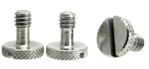 Steel Screws 1/4 Tripod Quick Release QR Plate Camera Flathead Slot Stainless SS ideal for Manfrotto / Sachtler (3 Pack)