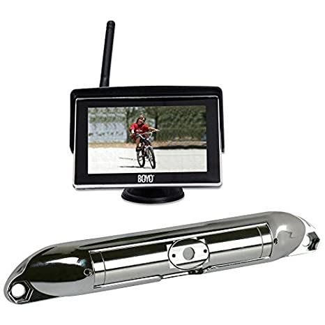 Boyo VTC404R Wi-Fi High Resolution Rear View Camera System with 4.3 LCD Monitor Chrome