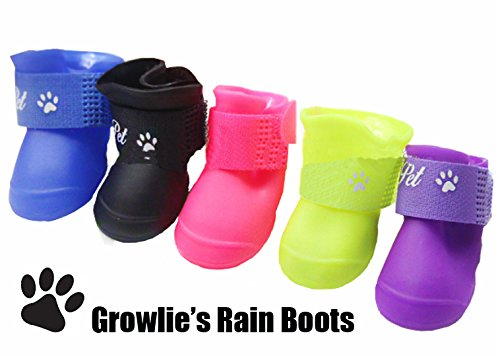 Growlie's – Pet shoe for dogs waterproof dog boots (2 pairs) 41jSI2lmT L