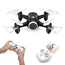 DoDoeleph Syma Mini UFO Quadcopter X22W WiFi FPV Pocket Drone HD Camera Remote Control Nano Quadcopter Drone RTF Mode 2