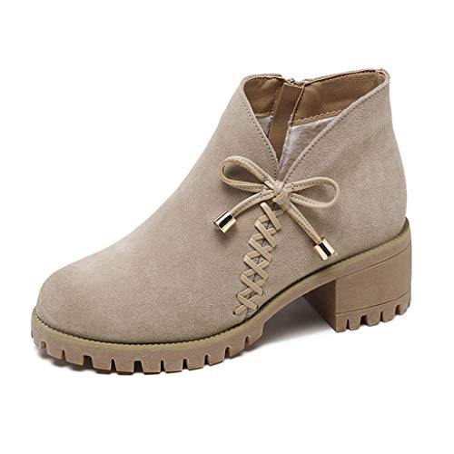 Women Ankle Boots Genuine Suede Leather Side Panel Toe Stacked Zipper Lining Low Block Heel Booties, Fire And Safety Shoes | Arctic Muck Saltwater Short Hunter Original (Khaki 39)