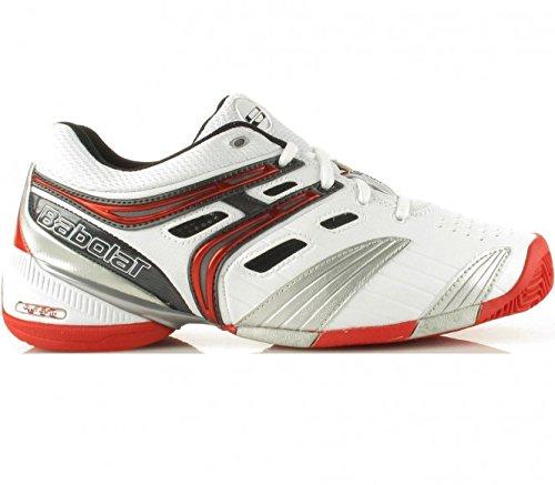Babolat - V Pro Clay chaussures de tennis pour hommes (blanc/rouge) - EU 38 - UK 5