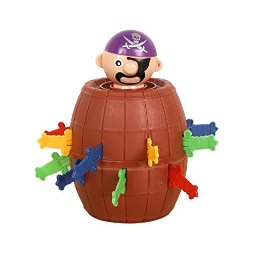 Per Newly Children's Halloween Toys Novelty Trickery Spoof Vent Mangle Funny Pirate Barrel Toys for Family Office Party,Interesting Game Toys Game Gifts for Kids ()