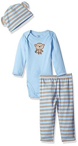 Gerber Boys' 3 Piece Bodysuit, Sweet Baby Monkey, 6-9 Months (Baby Boys Monkey)