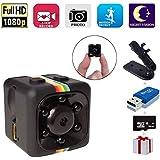 SpyCamera, Papakoyal HiddenCamera Mini Camera HD 1080P/720PSpy Cam WirelessSmallPortable Night Vision Motion Detection for Home, Car, Drone, Office with 16GBCard & Card Reader