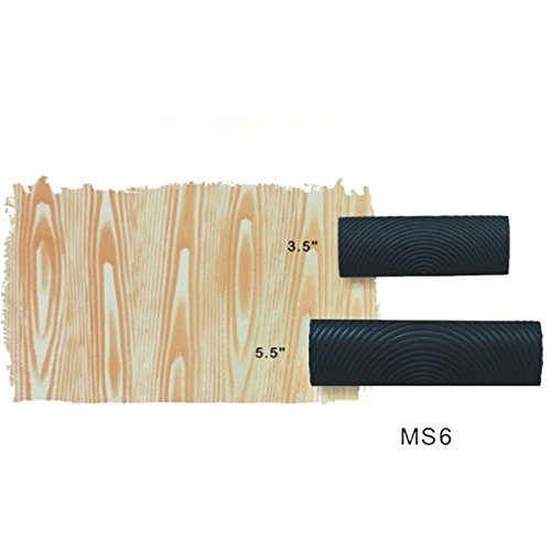 Tinksky 2pcs M-shape Wood Grain Design DIY Wall Decoration Tool Graining Rubber Painting for Home (Grain Tool)