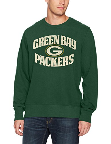 - NFL Green Bay Packers Men's OTS Fleece Crew Distressed, Dark Green, Large