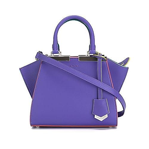 ... usa fendi womens leather handbag shopping bag purse 3jours mini dolce  purple 9e099 f4235 ... d5502960b6