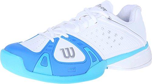 Wilson Women's Rush Pro HC White/Pool/Oceana 6 B - Medium (Wilson Womens Tennis Apparel)