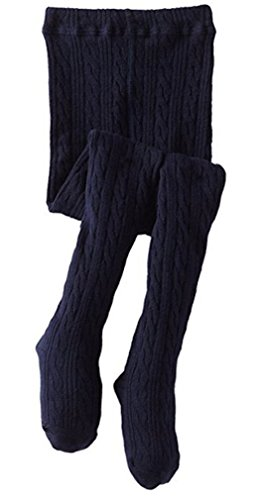 Jefferies Girls Classic Cotton Cable Tights Sizes from 2 Years to 14 Years