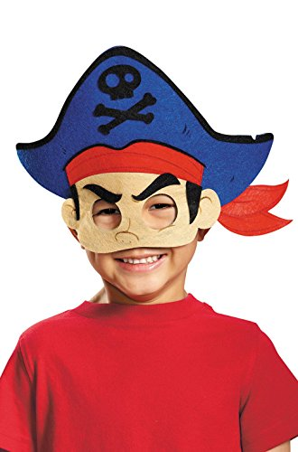 Mememall Fashion Jake and the Never Land Pirates Captain Jake Felt Child Mask (Captain Caveman Costume)