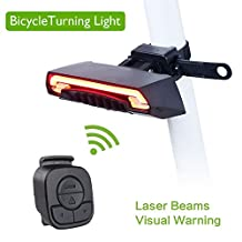 COGEEK Bicycle Smart Rear Light Bike Wireless Remote Turning Control Signal Tail Lamp Laser Beam USB Rechargeable